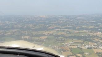 L'aéroport de Jersey en arrivant