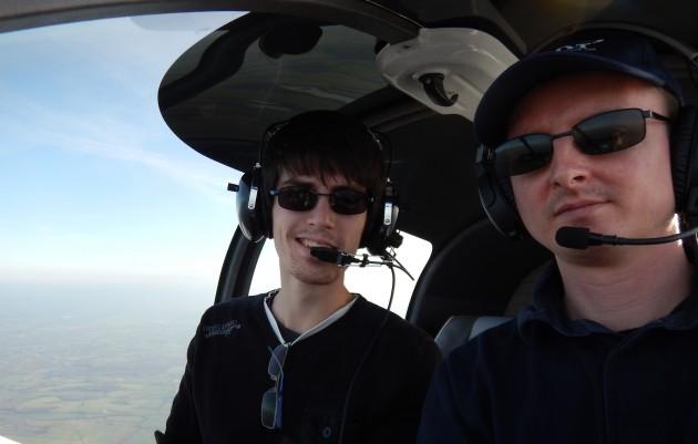 Vincent et moi dans l'avion