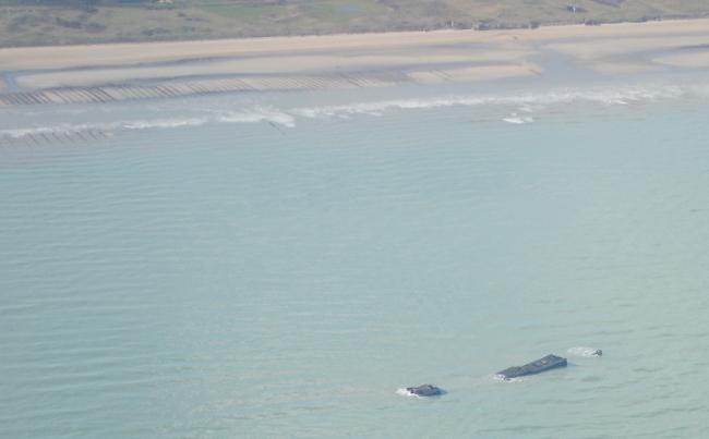 Une épave sur la côte du Cotentin