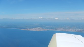 Saint-Gilles-Croix-de-Vie vue du ciel, et de la mer
