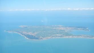 Ile de Noirmoutier vue du ciel côté mer