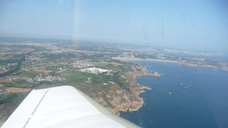 Côte sud et plage de Jersey